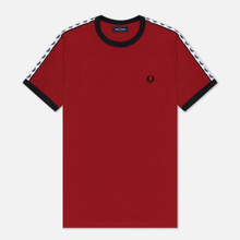 Мужская футболка Fred Perry Taped Ringer Rosso фото- 0