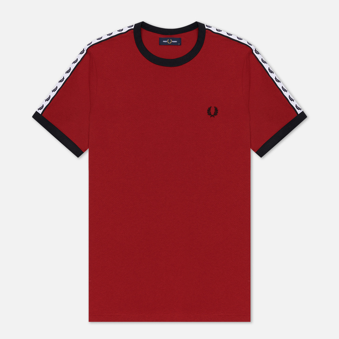 Мужская футболка Fred Perry Taped Ringer Rosso