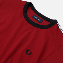 Мужская футболка Fred Perry Taped Ringer Rosso фото- 1