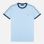 Мужская футболка Fred Perry Taped Ringer Sky Blue фото- 0