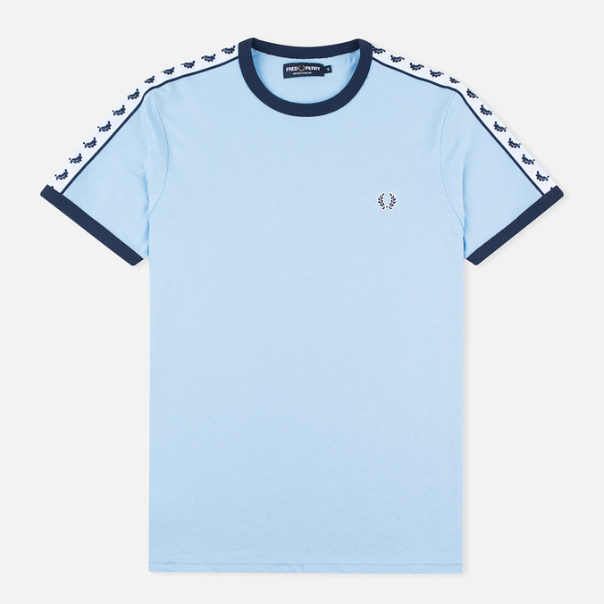 Мужская футболка Fred Perry Taped Ringer Sky Blue