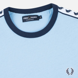 Мужская футболка Fred Perry Taped Ringer Sky Blue фото- 1