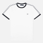 Мужская футболка Fred Perry Taped Ringer Snow White фото- 0