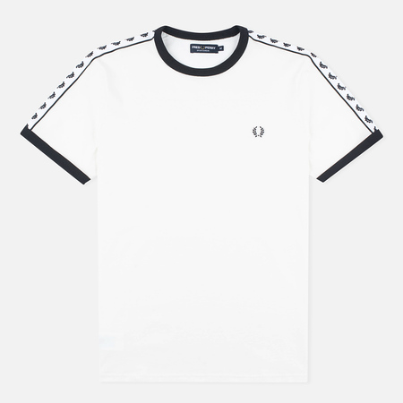 Мужская футболка Fred Perry Taped Ringer Snow White