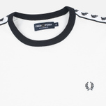 Мужская футболка Fred Perry Taped Ringer Snow White фото- 1