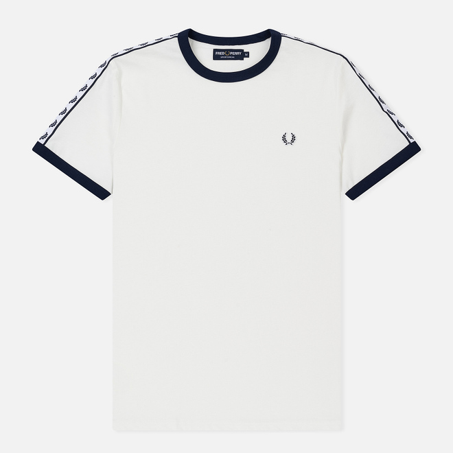 Мужская футболка Fred Perry Taped Ringer Snow White/Navy