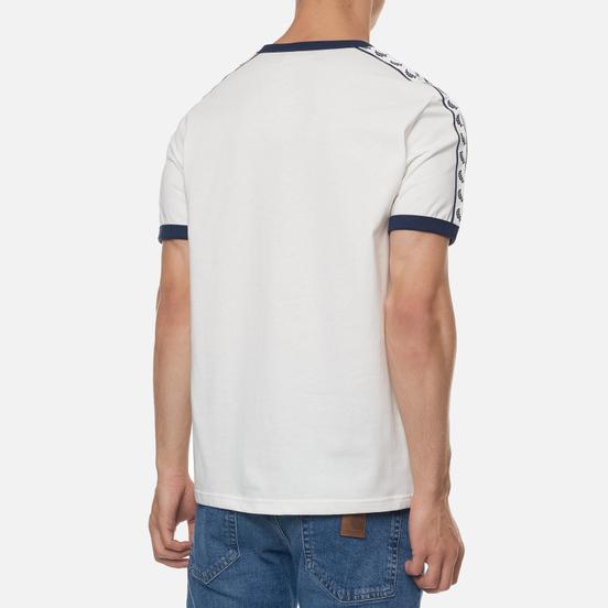 Мужская футболка Fred Perry Taped Ringer Snow White/Navy