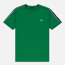 Мужская футболка Fred Perry Taped Shoudler Electric Green фото- 0