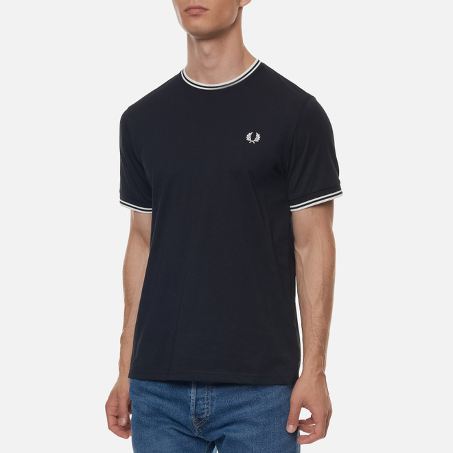 Мужская футболка Fred Perry Twin Tipped Black