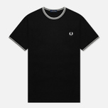 Мужская футболка Fred Perry Twin Tipped Black фото- 1