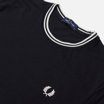 Мужская футболка Fred Perry Twin Tipped Black фото- 2