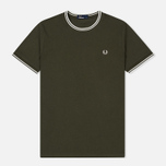 Мужская футболка Fred Perry Twin Tipped Forest Night фото- 0