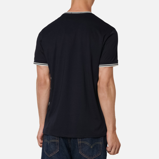 Мужская футболка Fred Perry Twin Tipped Navy/White