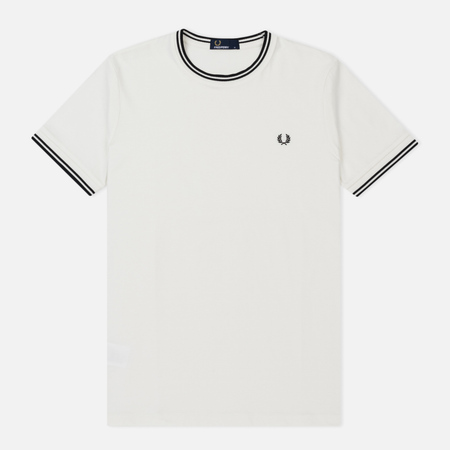 Мужская футболка Fred Perry Twin Tipped Snow White