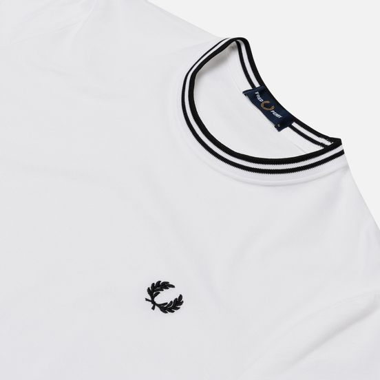 Мужская футболка Fred Perry Twin Tipped White