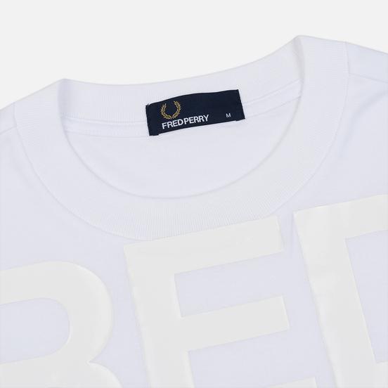 Мужская футболка Fred Perry Vinyl Print White