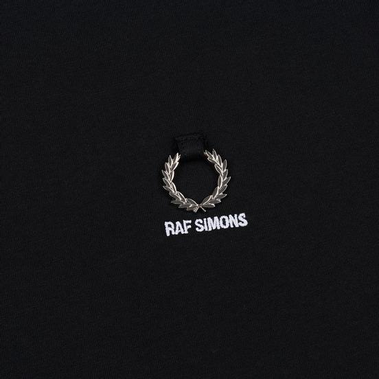 Мужская футболка Fred Perry x Raf Simons Laurel Detail Black