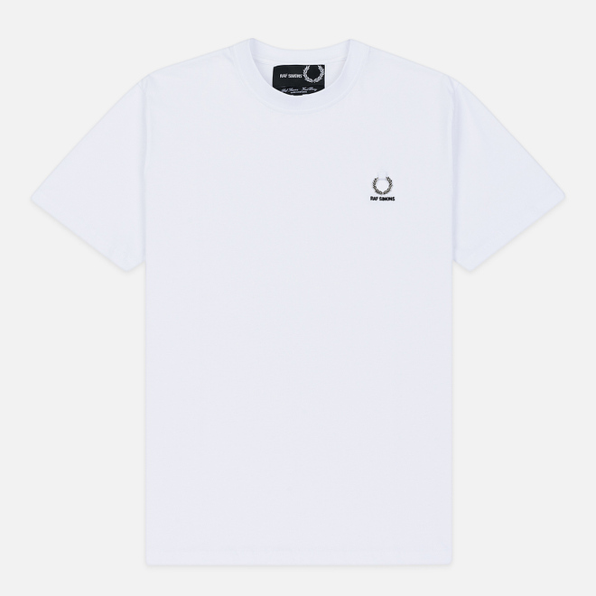 Мужская футболка Fred Perry x Raf Simons Laurel Detail White