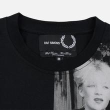 Мужская футболка Fred Perry x Raf Simons Shoulder Print Black фото- 1