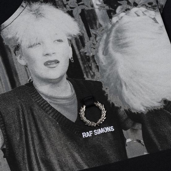 Мужская футболка Fred Perry x Raf Simons Shoulder Print Black