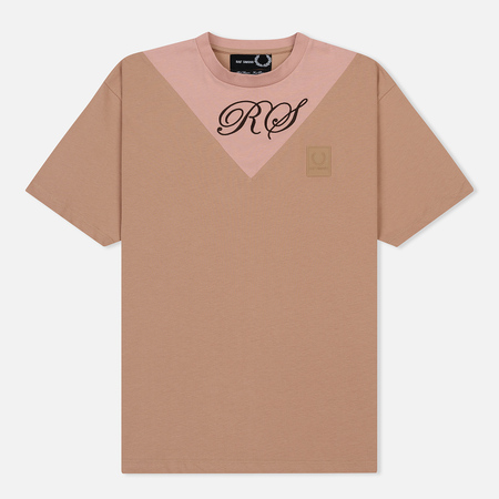 Мужская футболка Fred Perry x Raf Simons V-Insert Misty Rose