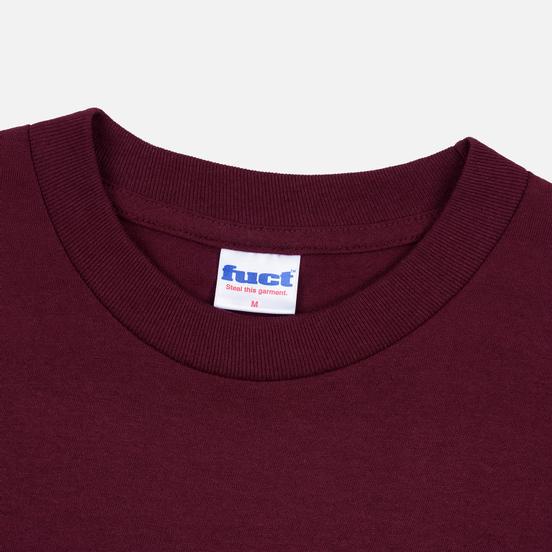 Мужская футболка Fuct Thick Cut Burgundy