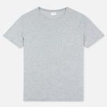 Мужская футболка Gant Rugger Pocket Light Grey Melange фото- 0