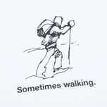 Garbstore Sometimes Walking Men's T-shirt White photo- 3