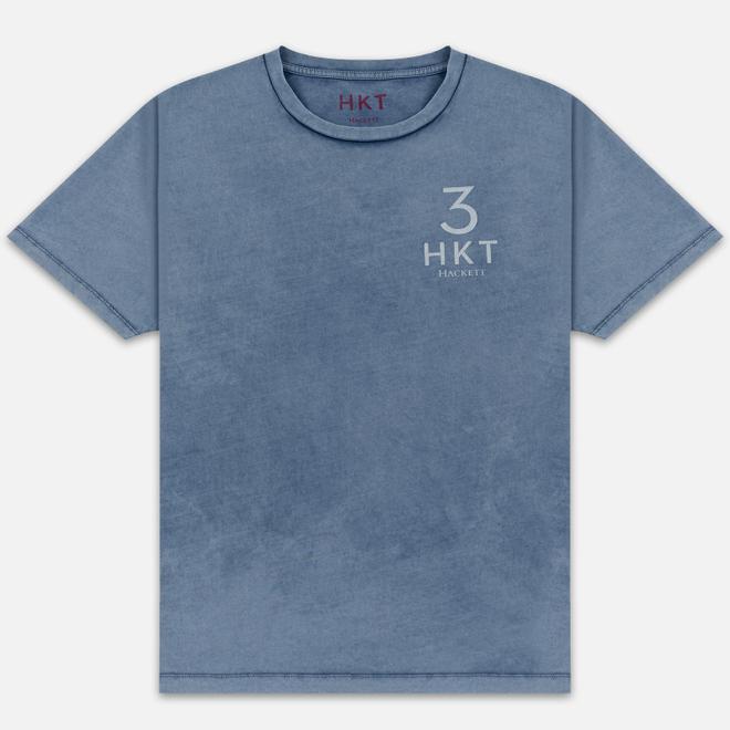 Мужская футболка Hackett Logo HKT 3 Blue/Grey