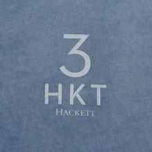 Мужская футболка Hackett Logo HKT 3 Blue/Grey фото- 2