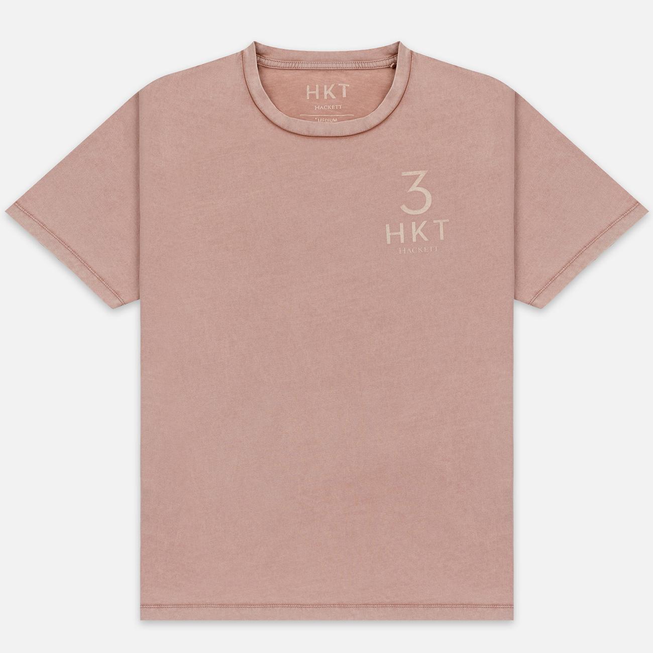 Мужская футболка Hackett Logo HKT 3 Coral
