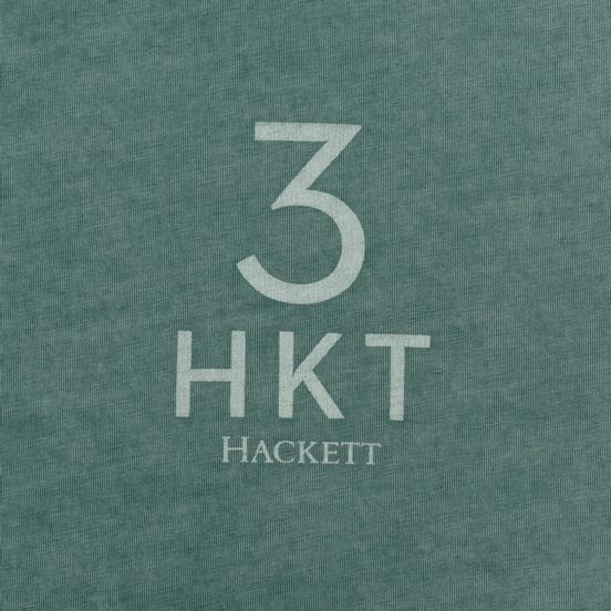 Мужская футболка Hackett Logo HKT 3 Teal Green