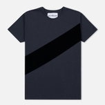 Мужская футболка Han Kjobenhavn Block Grey/Black Stripe фото- 0