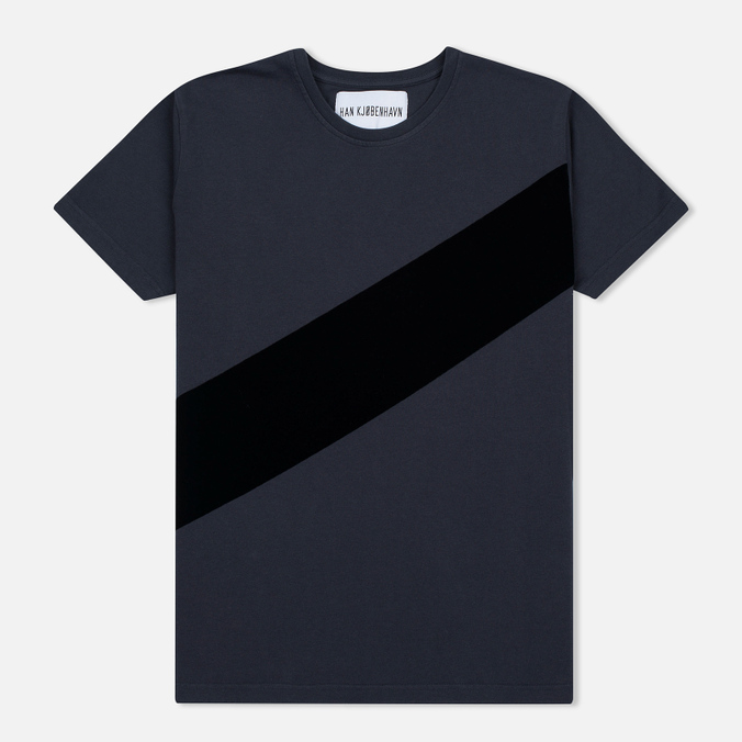 Мужская футболка Han Kjobenhavn Block Grey/Black Stripe