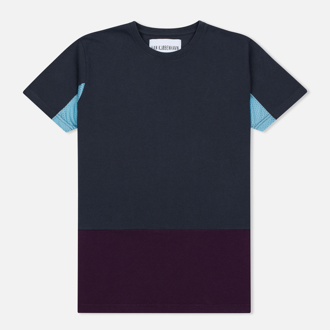 Мужская футболка Han Kjobenhavn Block Grey/Purple/Blue