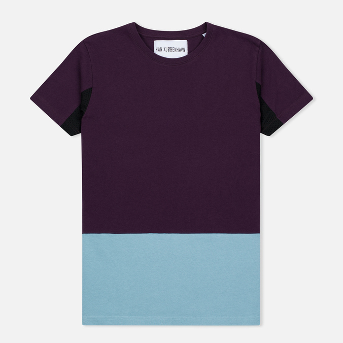 Мужская футболка Han Kjobenhavn Block Purple/Blue/Black