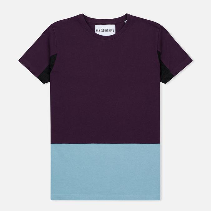 Han Kjobenhavn Block Men's T-shirt Purple/Blue/Black