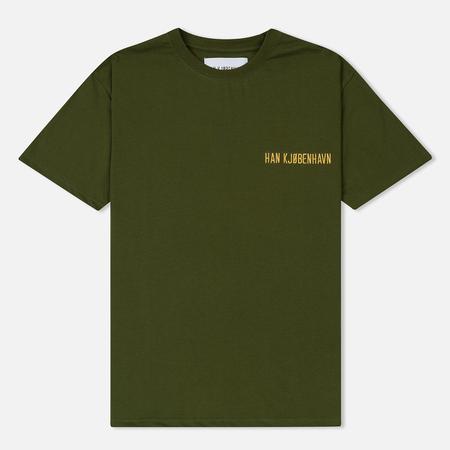 Мужская футболка Han Kjobenhavn Casual Artwork Logo Army