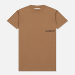 Мужская футболка Han Kjobenhavn Casual Small Chest Logo Brown фото- 0