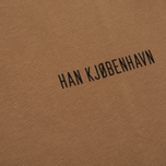 Мужская футболка Han Kjobenhavn Casual Small Chest Logo Brown фото- 2