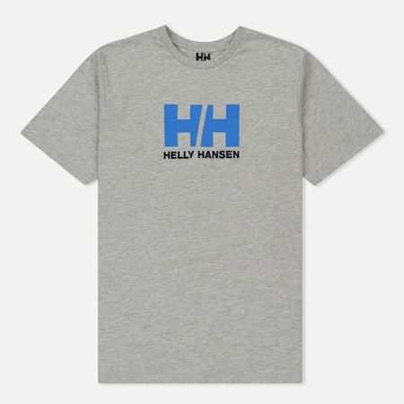 Мужская футболка Helly Hansen HH Logo Grey Melang