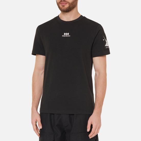 Мужская футболка Helly Hansen Yu Twin Logo Black