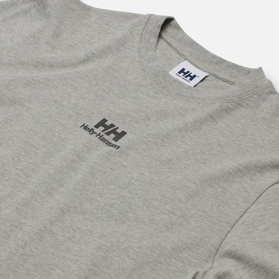 Мужская футболка Helly Hansen YU20 Logo Grey Melange