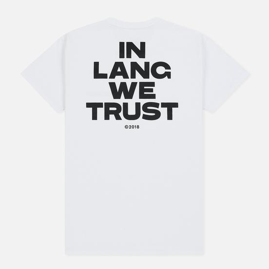 Мужская футболка Helmut Lang Little With Print Chalk White