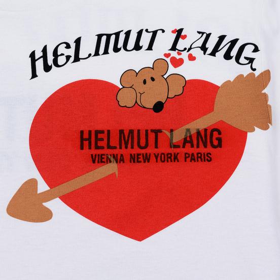 Мужская футболка Helmut Lang Standard Valentine Chalk White