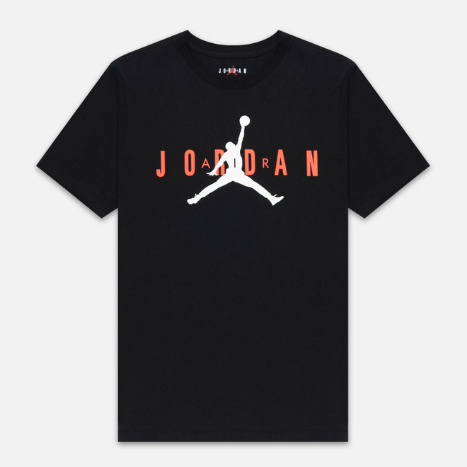 Мужская футболка Jordan Air Wordmark Black/Infrared