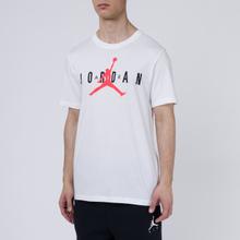 Мужская футболка Jordan Air Wordmark White/Black/Infrared фото- 2