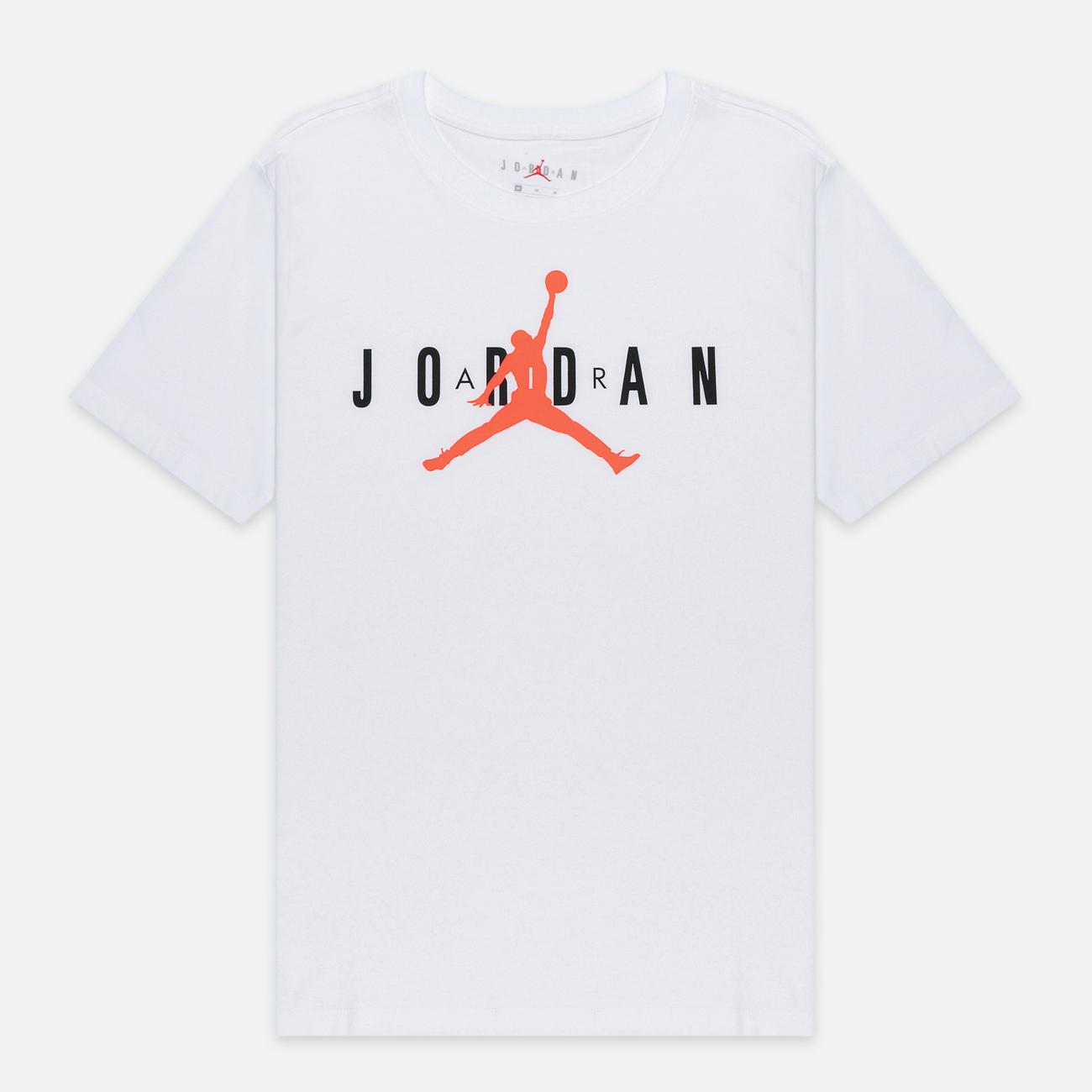Мужская футболка Jordan Air Wordmark White/Black/Infrared