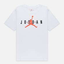 Мужская футболка Jordan Air Wordmark White/Black/Infrared фото- 0