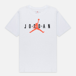Мужская футболка Jordan Air Wordmark White/Black/Infrared
